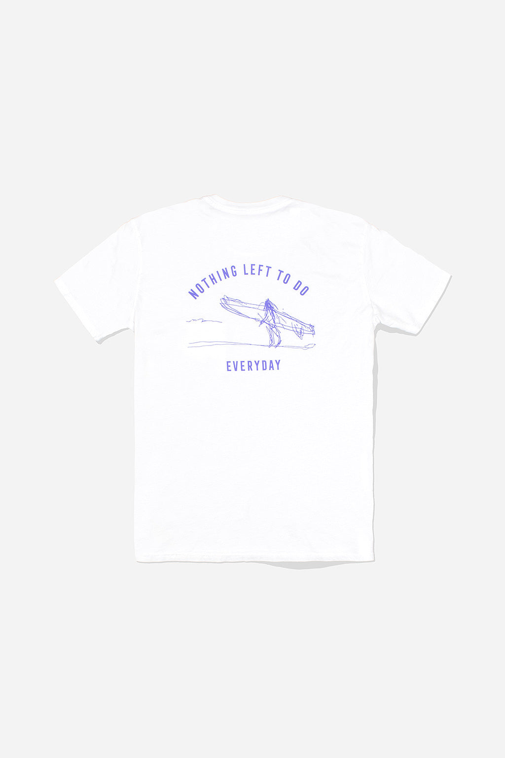 Quality Peoples Unisex Pocket Tshirt Nothing Left White Back Photo