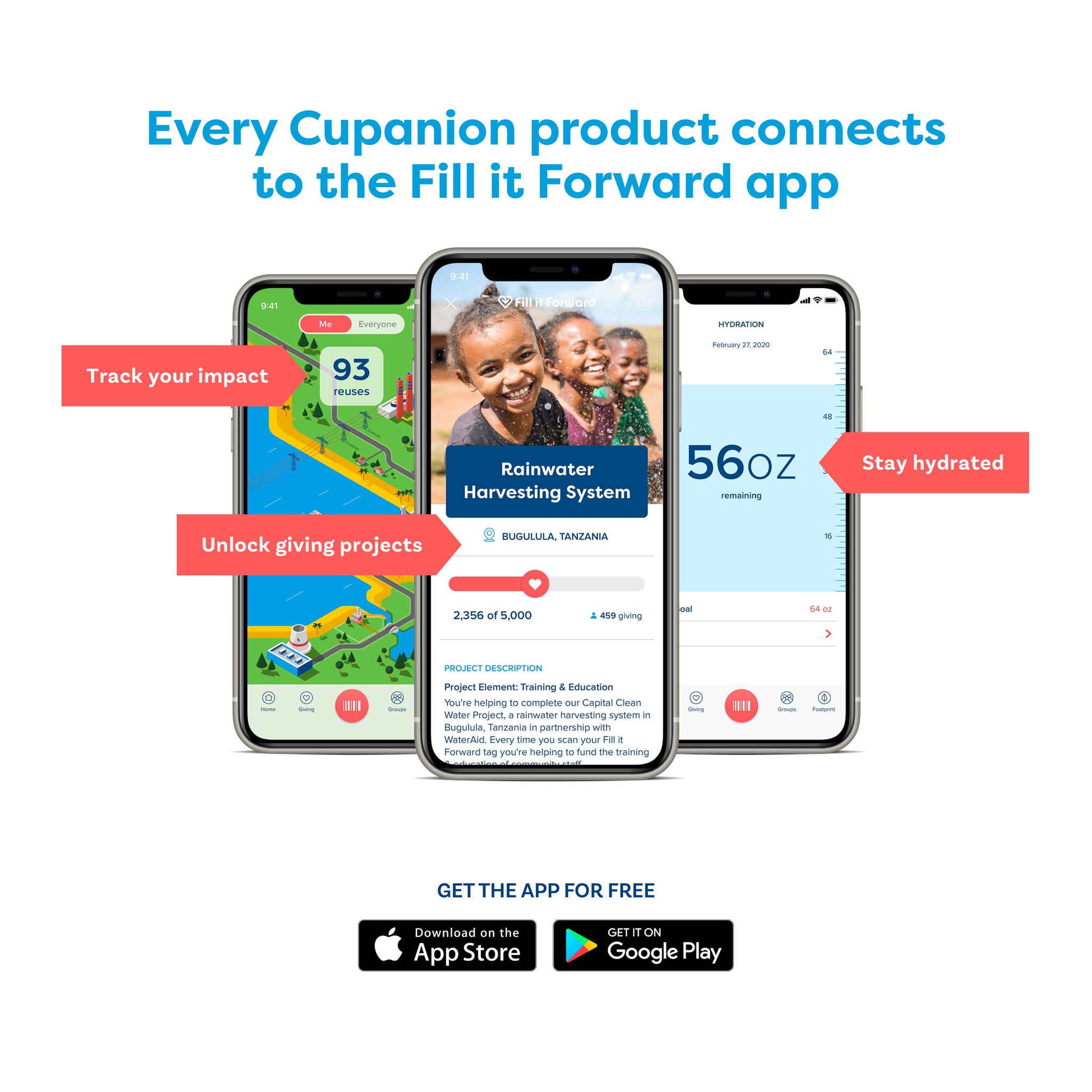 Fill it Forward App Screens