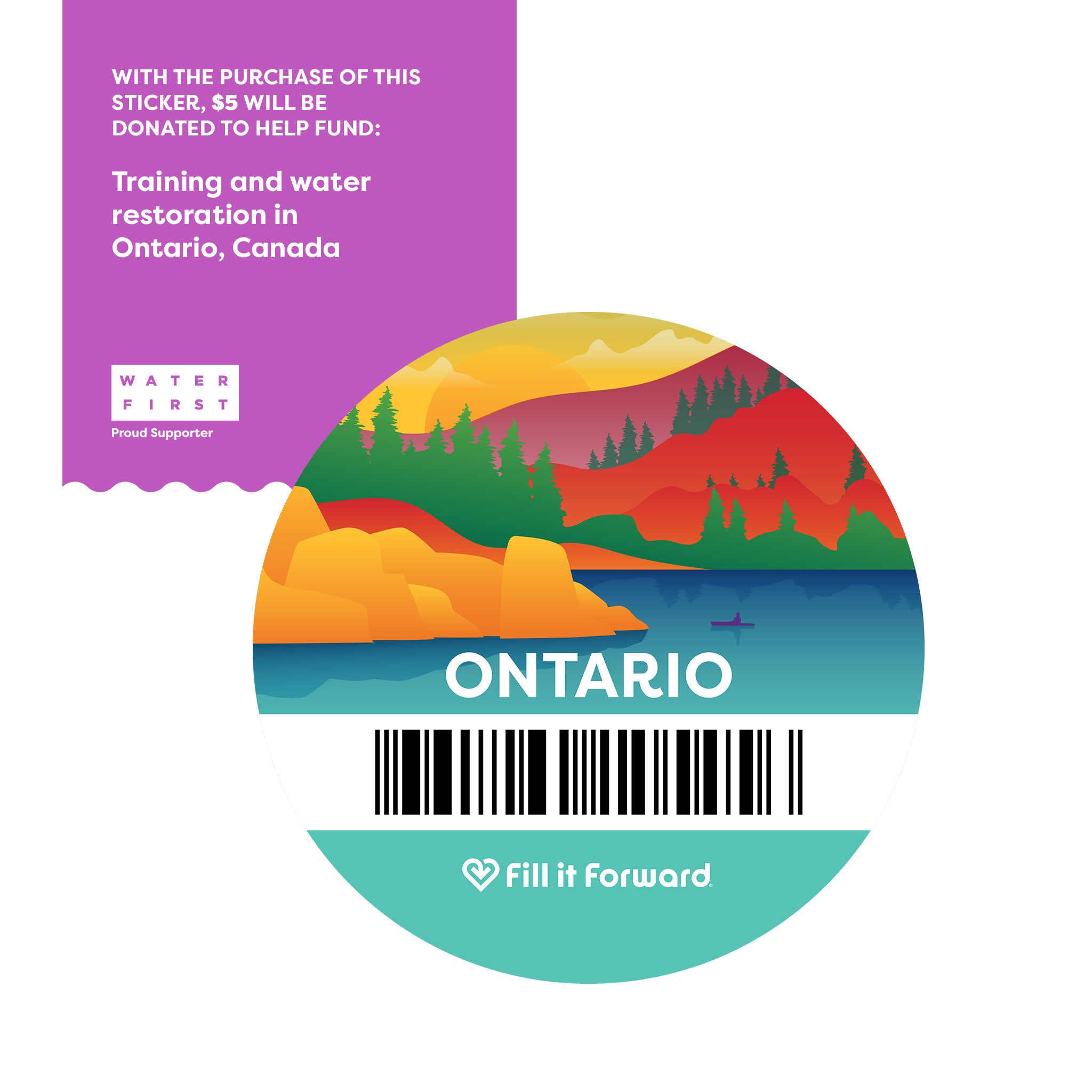 Charitable Giving - Ontario Fill it Forward Sticker