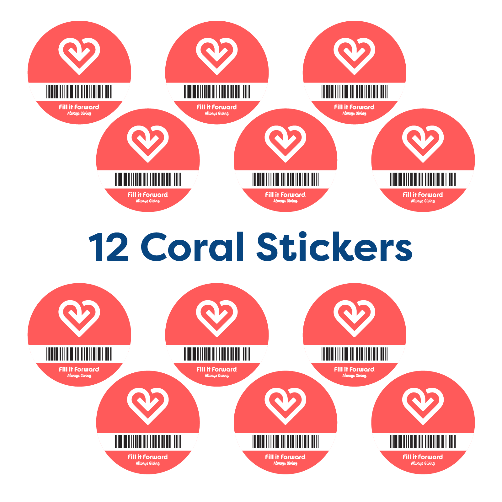 Fill it Forward Cup Sticker 12-Pack