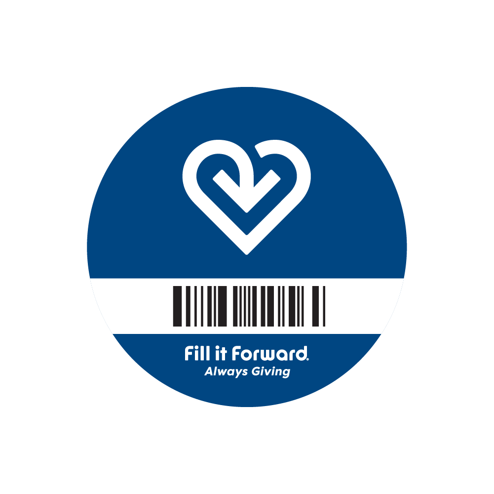 Fill it Forward Cup Sticker - Connect any reusable cup to the Fill it Forward app