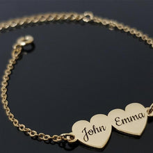 Load image into Gallery viewer, Personalized Heart Lovers Bracelet - Happy Maker