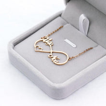 Load image into Gallery viewer, Infinity Heart Name Necklace - Happy Maker