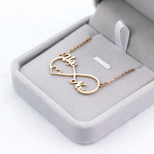 Infinity Heart Name Necklace - Happy Maker