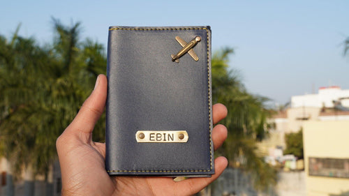 Personalized Name Leather Passport Covers - Happy Maker