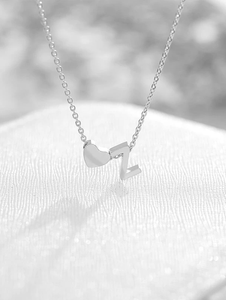 Personalized Heart Initial Necklace - Happy Maker