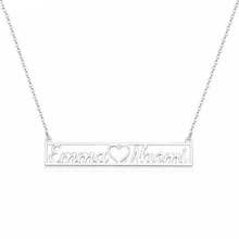 Load image into Gallery viewer, Personalized Hollow Bar Name Necklace - Happy Maker