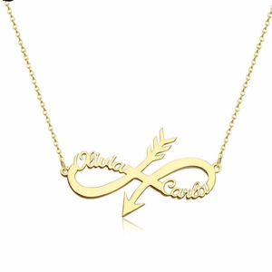 Personalized Arrow Infinity Name Necklace - Happy Maker