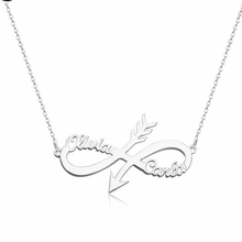 Load image into Gallery viewer, Personalized Arrow Infinity Name Necklace - Happy Maker