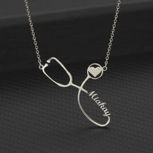 Load image into Gallery viewer, Personalized Stethoscope Name Necklace - Happy Maker