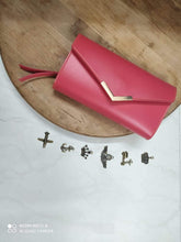 Load image into Gallery viewer, Personalized Women's Maximal Clutch With Charms - Happy Maker