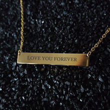 Load image into Gallery viewer, Personalized Engraved Bar Name Necklace Pendant