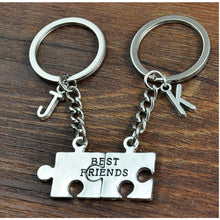 Load image into Gallery viewer, Personalized Best Friend Alphabet Keyring - Happy Maker