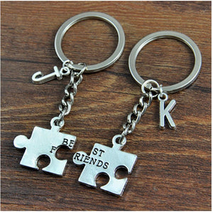 Personalized Best Friend Alphabet Keyring - Happy Maker