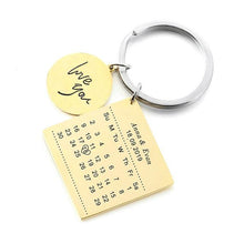 Load image into Gallery viewer, Personalized Calendar Keyring - Happy Maker