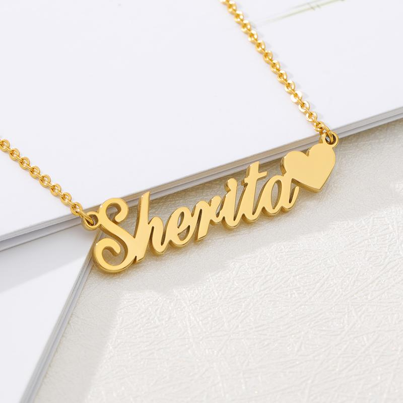Personalized Name Pendant With Heart - Happy Maker