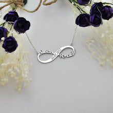 Load image into Gallery viewer, Personalized Infinity Name With Engraved Necklace - Happy Maker