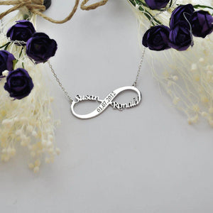 Personalized Infinity Name With Engraved Necklace