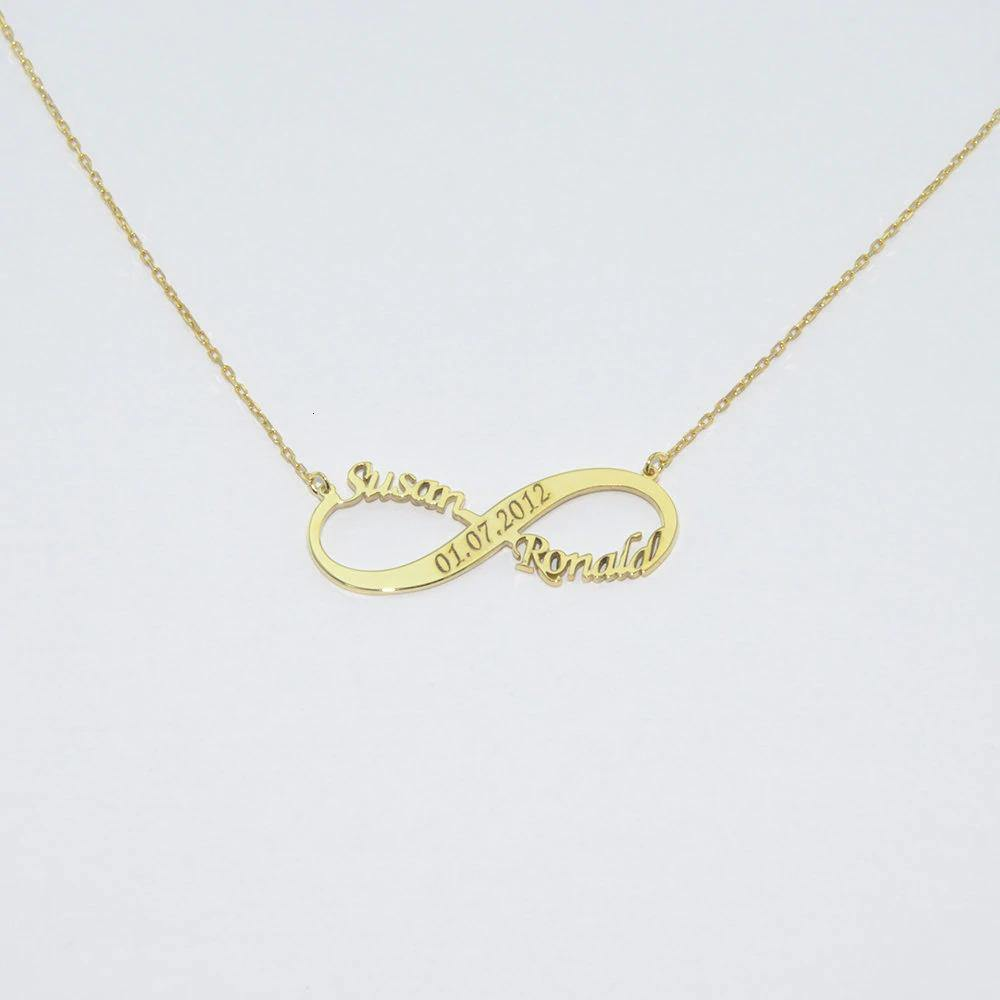 Personalized Infinity Name With Engraved Necklace - Happy Maker