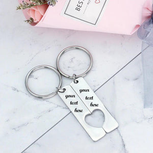 Personalized Couple Love Bar Keychain - Happy Maker