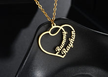 Load image into Gallery viewer, Personalized Heart Love Name Necklace - Happy Maker