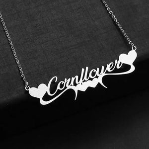 Personalized Stunning Heart Name Necklace - Happy Maker