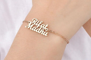 Personalized Couple Love Two Name Bracelet - Happy Maker