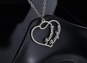 Personalized Heart Love Name Necklace - Happy Maker