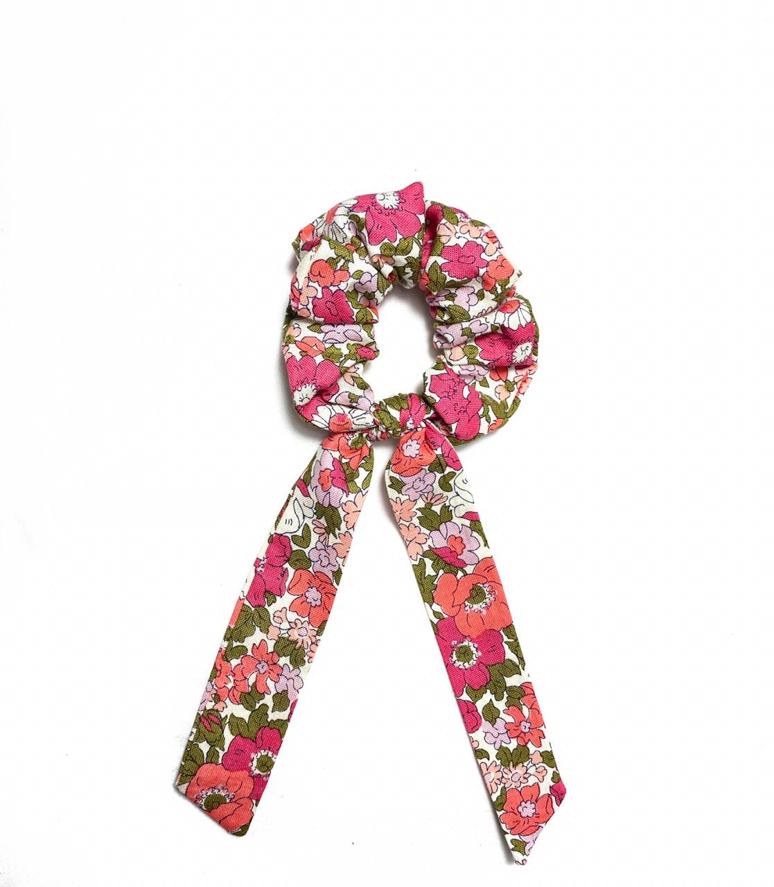 Liberty Pink & Olive Scrunchie