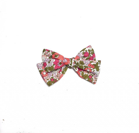 Liberty Pink & Olive Bow