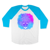 STARSEED - RAGLAN SHIRT BASEBALL T-SHIRT White Neon-Heather Blue / XS DEARSOUL