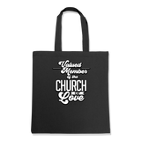 VALUED MEMBER CURCH OF SOUL-TOTE BAG Black DEARSOUL