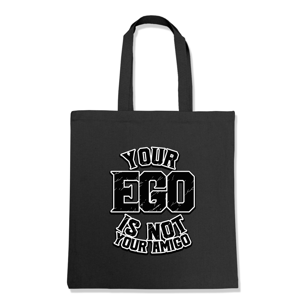YOUR EGO NOT AMIGO-TOTE BAG Black DEARSOUL