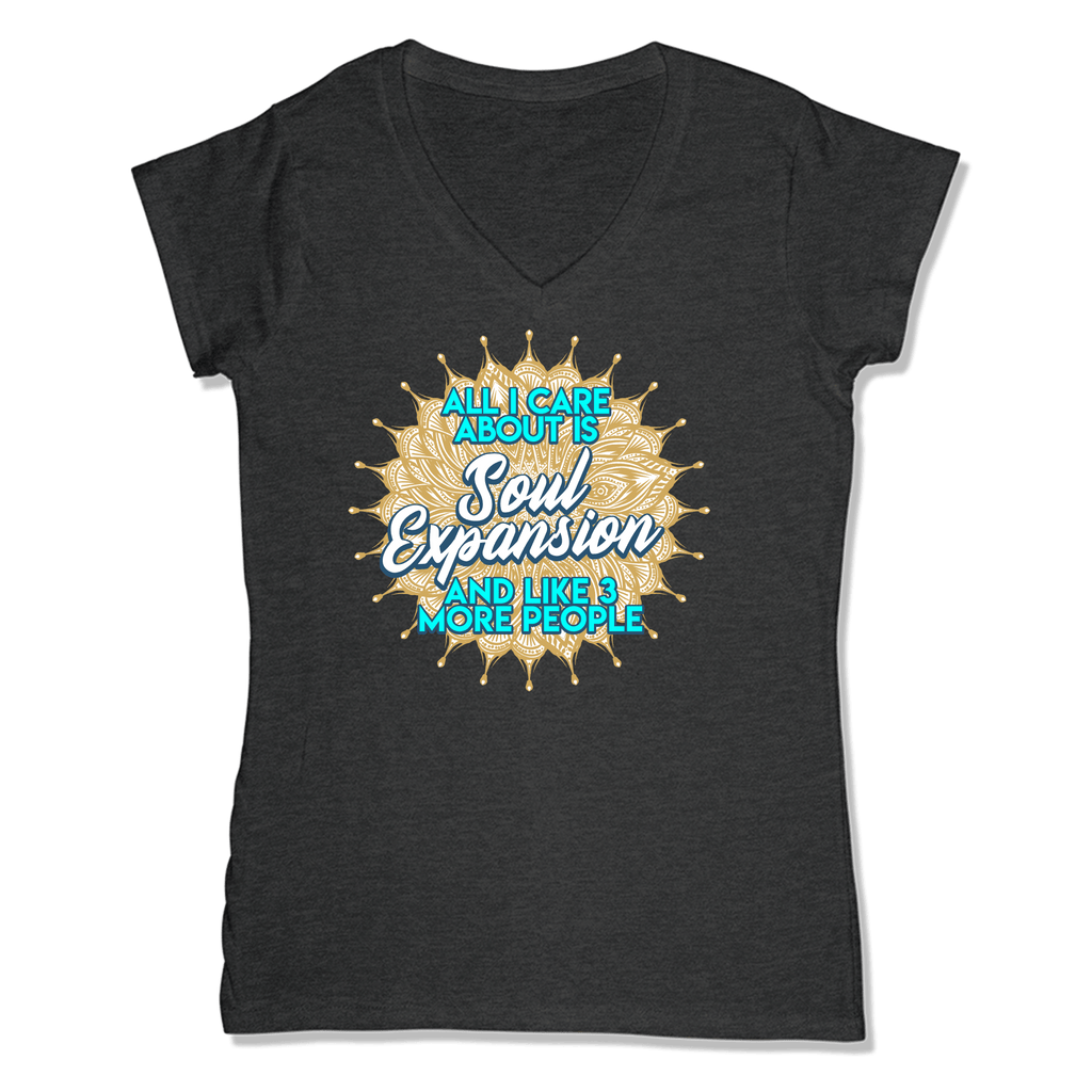 ALL I CARE ABOUT V-NECK CHARCOAL HEATHER / XL DEARSOUL