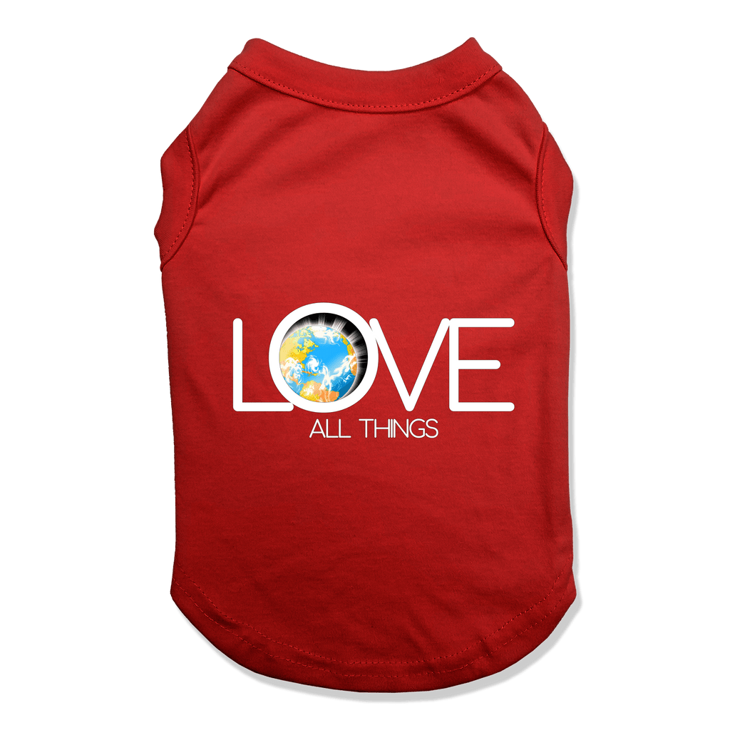 LOVE ALL THINGS - DOG TANK TOP Dog Tank Red / XS DEARSOUL