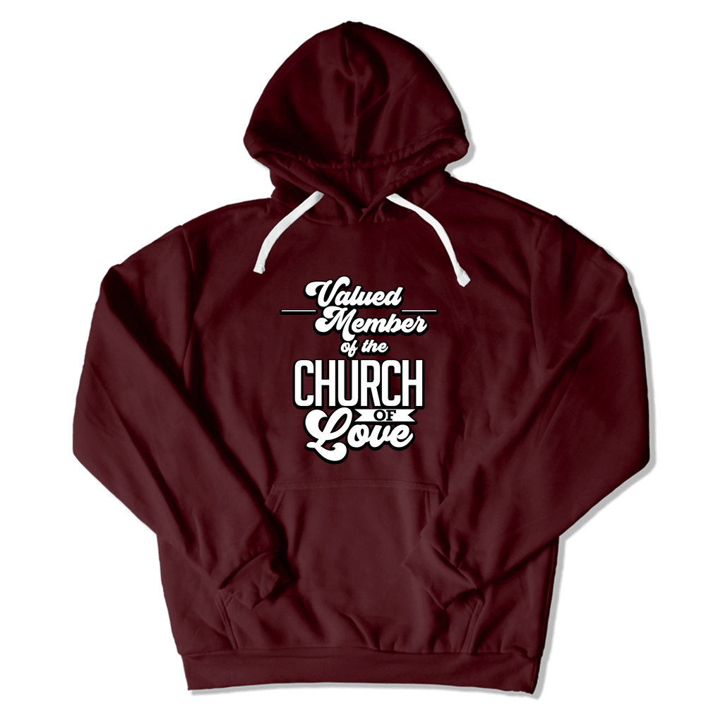 CHURCH OF SOUL - HOODIE HOODIE Maroon / S DEARSOUL