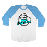 IM JUST HERE FOR THE SOUL EXPANSION-UNISEX RAGLAN - AMERICAN APPAREL DEARSOUL