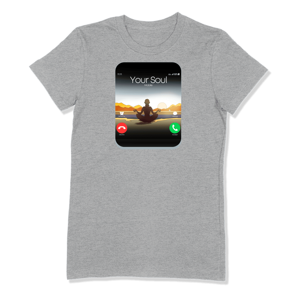 5G CELL PHONE - LADIES T-SHIRT LADIES T-SHIRT Athletic Heather / S DEARSOUL