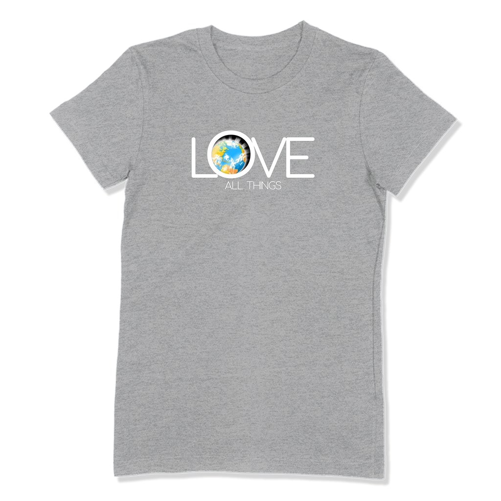 LOVE ALL THINGS - LADIES T-SHIRT LADIES T-SHIRT Athletic Heather / S DEARSOUL