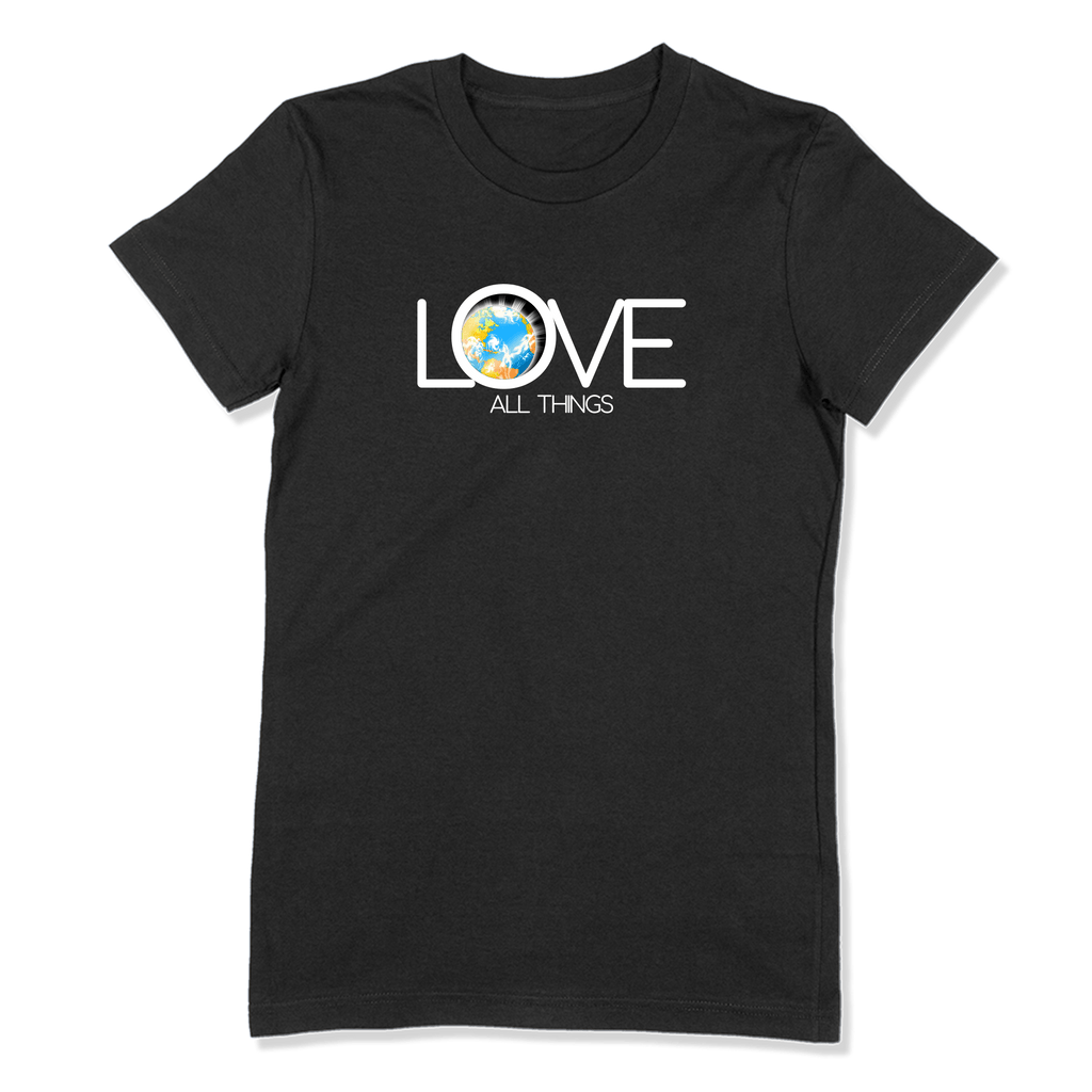 LOVE ALL THINGS - LADIES T-SHIRT LADIES T-SHIRT Black / S DEARSOUL
