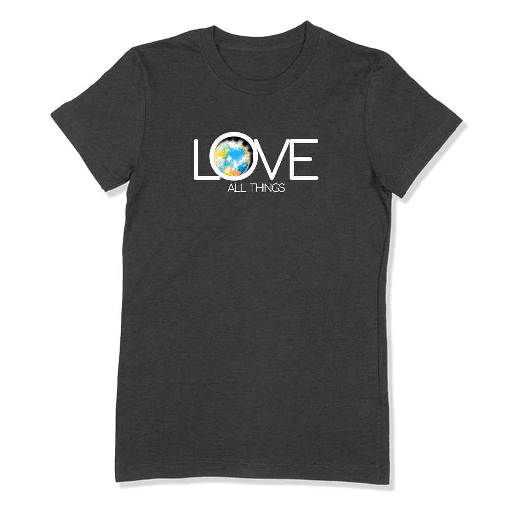 LOVE ALL THINGS - LADIES T-SHIRT LADIES T-SHIRT Dark Grey Heather / S DEARSOUL
