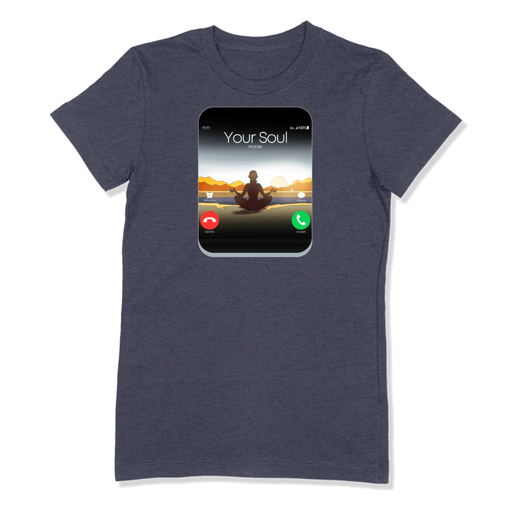 5G CELL PHONE - LADIES T-SHIRT LADIES T-SHIRT Heather Navy / S DEARSOUL