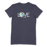 LOVE ALL THINGS - LADIES T-SHIRT LADIES T-SHIRT Heather Navy / S DEARSOUL