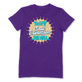 ALL I CARE ABOUT IS SOUL EXPANSION - LADIES T-SHIRT LADIES T-SHIRT Purple / S DEARSOUL