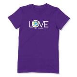 LOVE ALL THINGS - LADIES T-SHIRT LADIES T-SHIRT Purple / S DEARSOUL