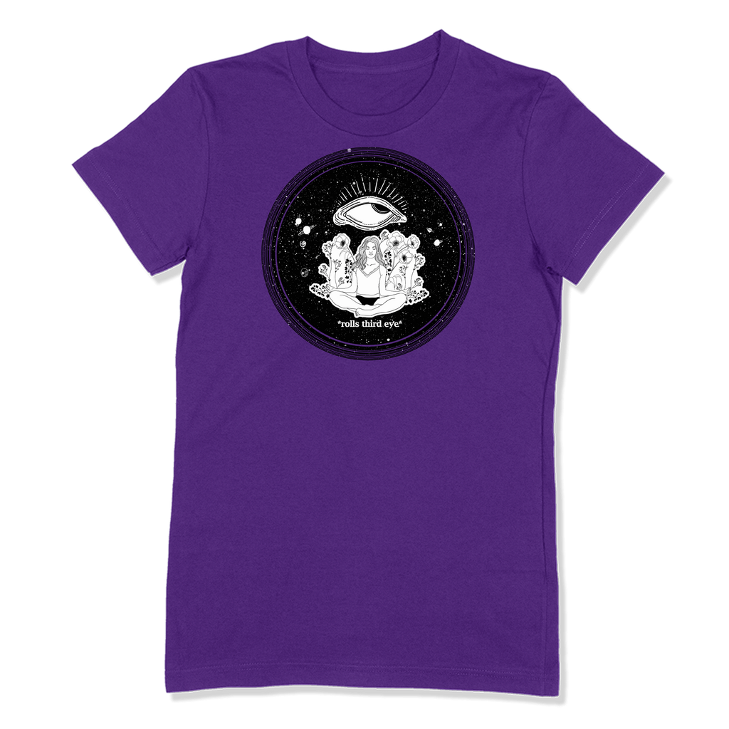 ROLLS 3RD EYE - LADIES T-SHIRT LADIES T-SHIRT Purple / S DEARSOUL