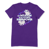 SUPER POWER - LADIES T-SHIRT LADIES T-SHIRT Purple / S DEARSOUL