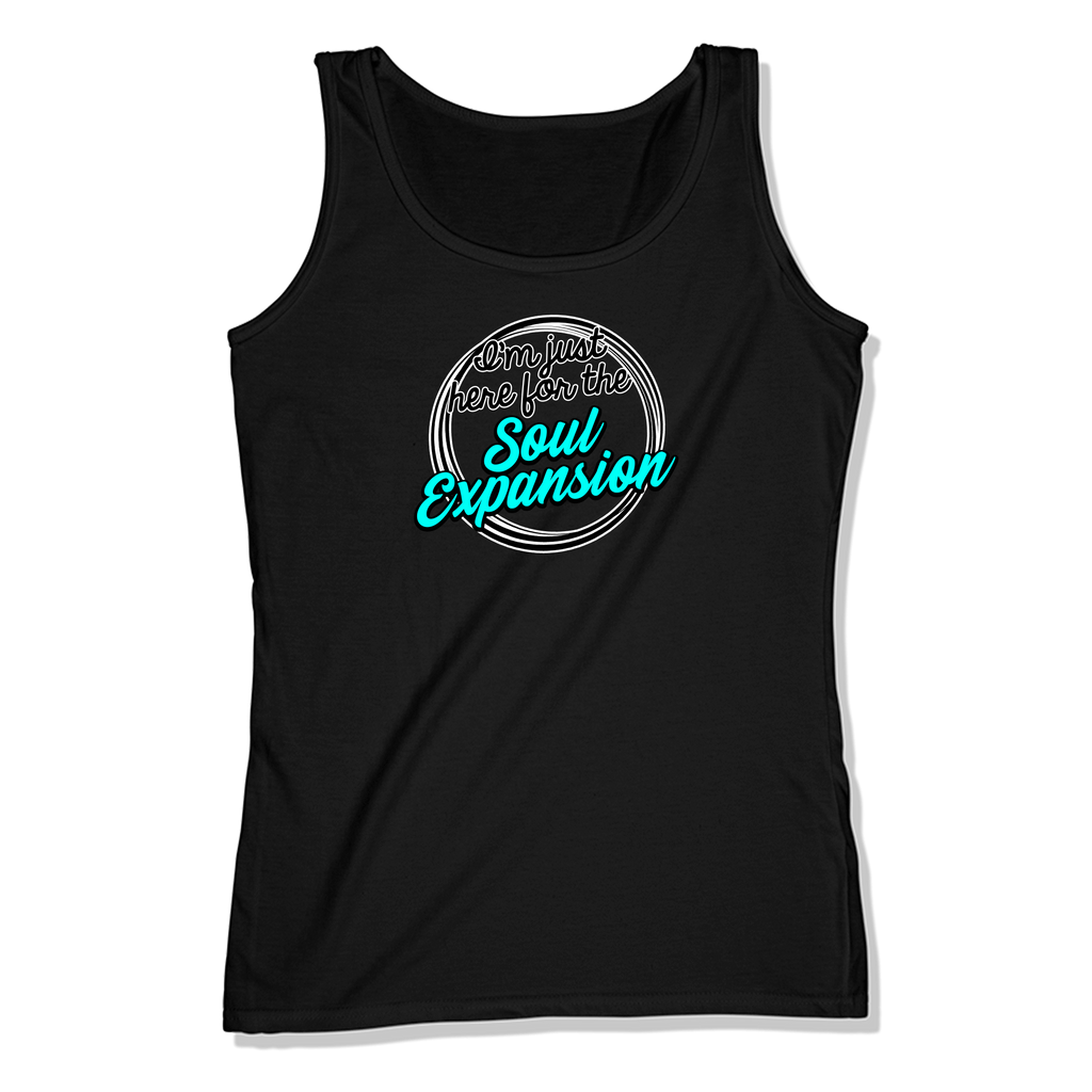 I'M JUST HERE FOR THE SOUL EXPANSION - LADIES TANK TOP LADIES TANK Black / XS DEARSOUL