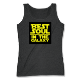 BEST SOUL IN GALAXY - LADIES TANK TOP LADIES TANK Charcoal Heather / XS DEARSOUL