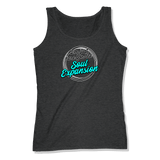 I'M JUST HERE FOR THE SOUL EXPANSION - LADIES TANK TOP LADIES TANK Charcoal Heather / XS DEARSOUL